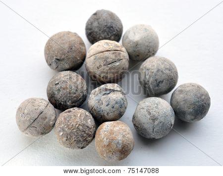 old leaden musket balls