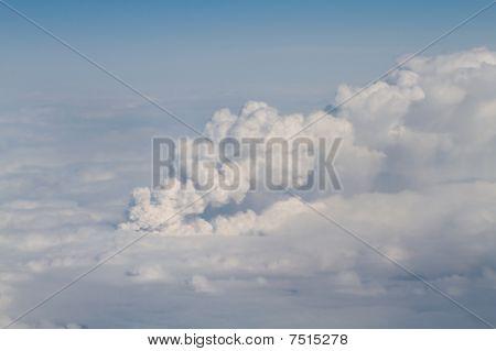 Eyjafjallajokull volcano and ash cloud