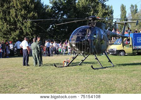 Military Helicopter NH 500 -E