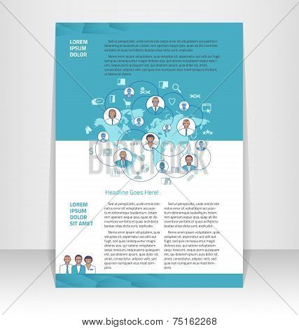 Flyer, Leaflet, Booklet Layout. Editable Design Template.