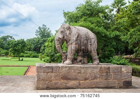 Ancient Granite Elephant