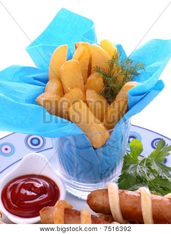 Fries And Sausages