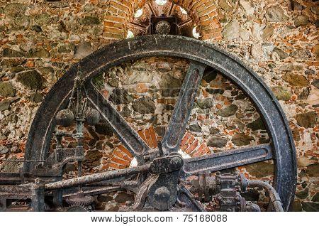 Sugar Mill Engine Wheel