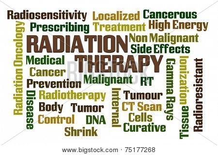 Radiation Therapy word cloud on white background