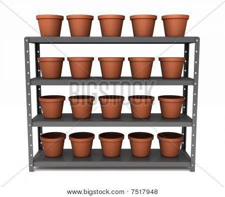 Shelf Of Pots