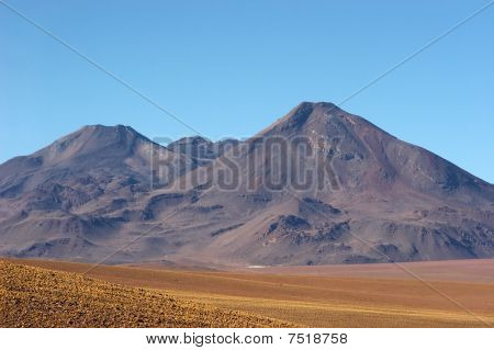 Old Volcano In Atacama Desert, Chile