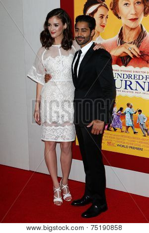 NEW YORK-AUG 4: Actors Charlotte Le Bon (L) and Manish Dayal attends