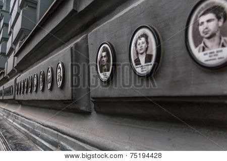 Victims On The Outside Of The House Of Terror In Budapest