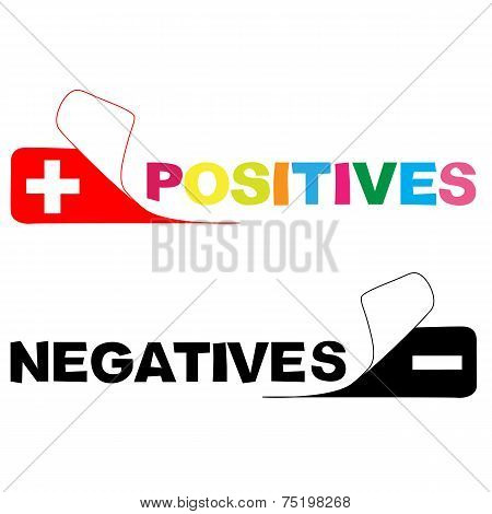 positive and negative colours  sticker. vector illustration poster