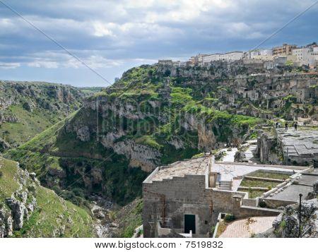 Landscape of Matera. Basilicata.