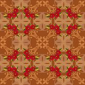 Patchwork seamless floral pattern texture background with decorative elements poster