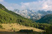 mountain range in Kelmend municipality, Albania poster