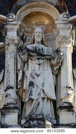 MARIJA BISTRICA, CROATIA - OCTOBER 26: Jesus Christ Almighty, basilica Assumption of the Virgin Mary in Marija Bistrica, Croatia, on October 26, 2013