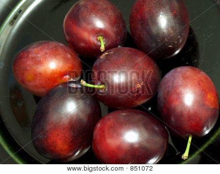 Fresh, juicy, delicious plums