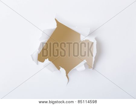 Holes on white paper set