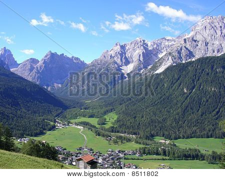 Landschaft, Pustertal, Dolomiten, Italien