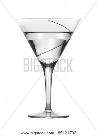 Glass with water, isolated on white background
