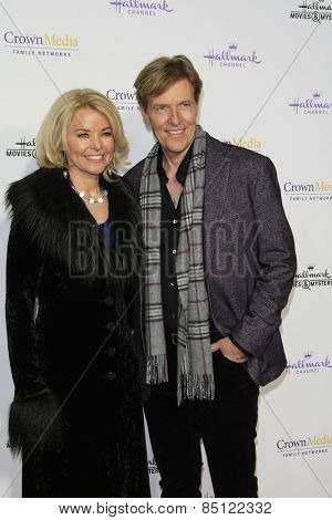 LOS ANGELES - JAN 8: Kristina Wagner, Jack Wagner at the TCA Winter 2015 Event For Hallmark Channel and Hallmark Movies & Mysteries at Tournament House on January 8, 2015 in Pasadena, CA