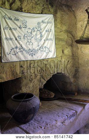 KUMROVEC, CROATIA - SEPTEMBER 24: Bread oven in Ethnological Folk Museum Staro Selo in Kumrovec, Northern County of Zagorje Croatia on September 24, 2013.
