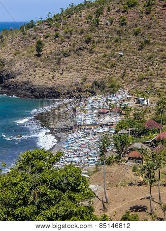 Fishermens Village In Amed, Bali