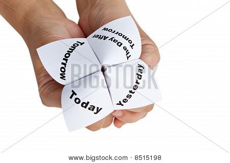 Paper Fortune Teller close up for background poster