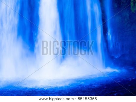 Bright Otodome-no-taki waterfall scenery, Japan