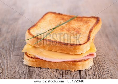 sandwich, croque monsieur