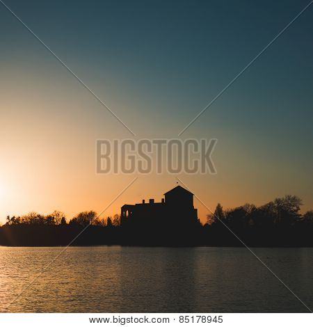 Sunset over Old lake, Tata, Hungary