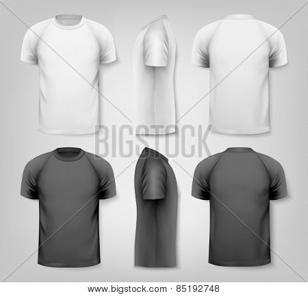 Colorful male t-shirts. Design template.