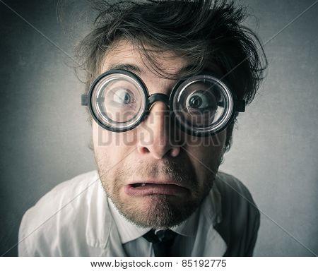 Shocked scientist