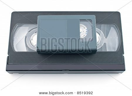Compact Videocassette And Vhs