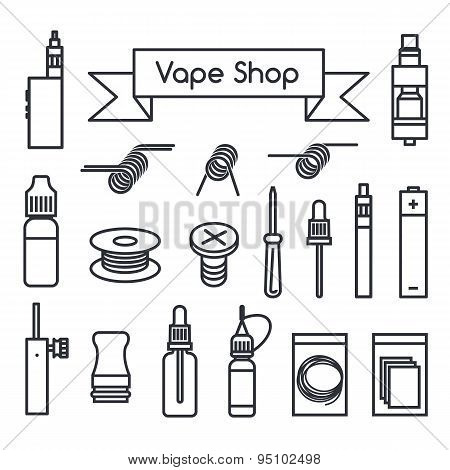Vape Shop Icons