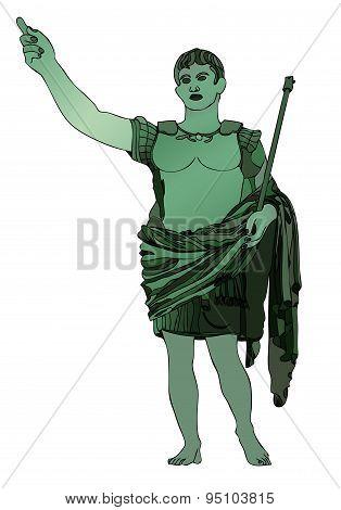 Statue Of Emperor Gaius Julius Caesar