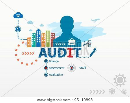Audit Concept And Business Man.