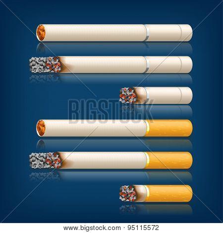 smoking cigarettes set