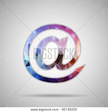 Abstract Creative concept vector icon of e-mail for Web and Mobile Applications isolated on backgrou