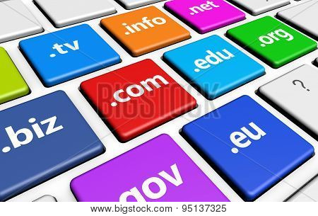 Web Domain Names Computer Key