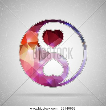 Abstract Creative concept vector icon of Yin Yang for Web and Mobile Applications isolated on backgr