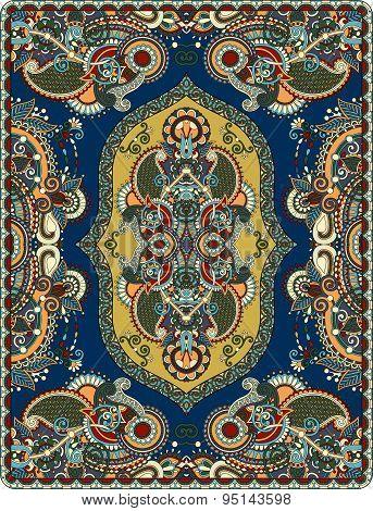 elaborate original floral large area carpet design for print