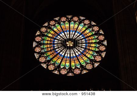 Round Stained Gl Church Window