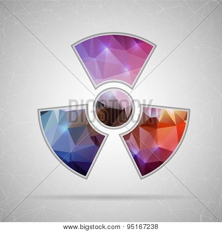 Abstract Creative concept vector icon of radioactively for Web and Mobile Applications isolated on b