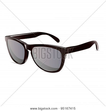 summer time sunglasses black isolated