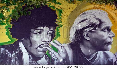 Mural of Jimi Hendrix