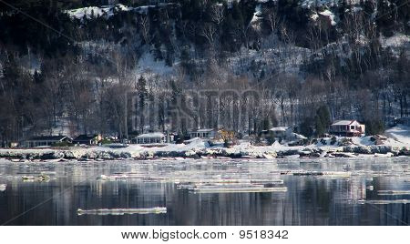 Winter Cottage Near The River