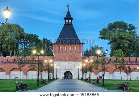 Tower Of Ivanov Gate In Tula Kremlin