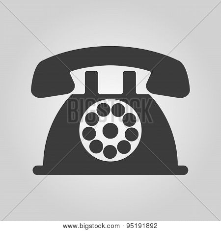 The phone icon. Telephone and support hotline helpdesk symbol. Flat Vector illustration poster