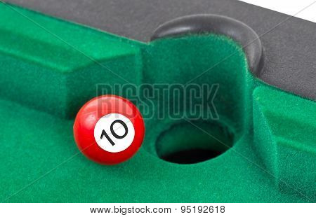 Red Snooker Ball - Number 10