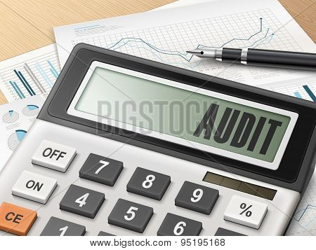 Calculator With The Word Audit