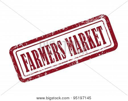Stamp Farmers Market In Red