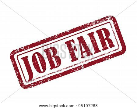 Stamp Job Fair In Red
